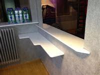 mensole laccate lucide verniciatura lucida patinature varie su mobili e cucine