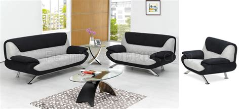 saillon contemporary gray and black living room set with black and grey two tone microfiber modern living room set