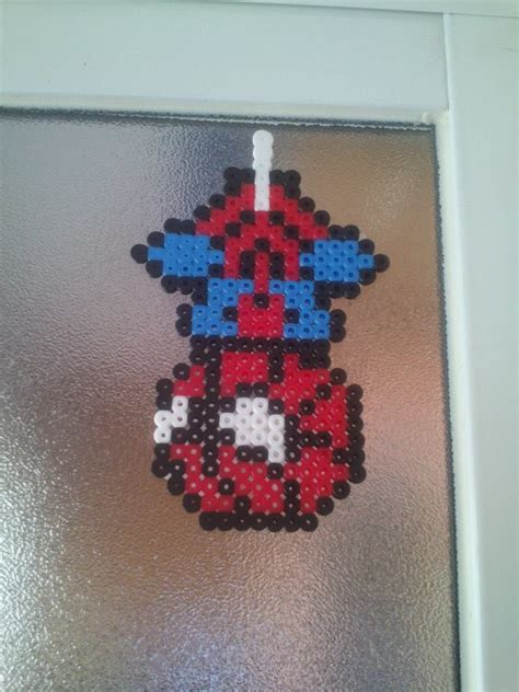 spiderman bead pattern spiderman chibi hama beads by piotita on deviantart