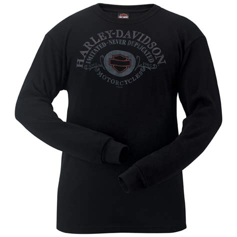 T Shirt S T A R Duplicate Cloth new tag harley davidson mens quot no duplicate quot black thermal