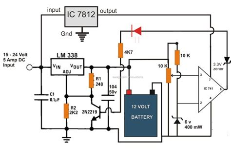 6v 12v 24v battery charger circuit