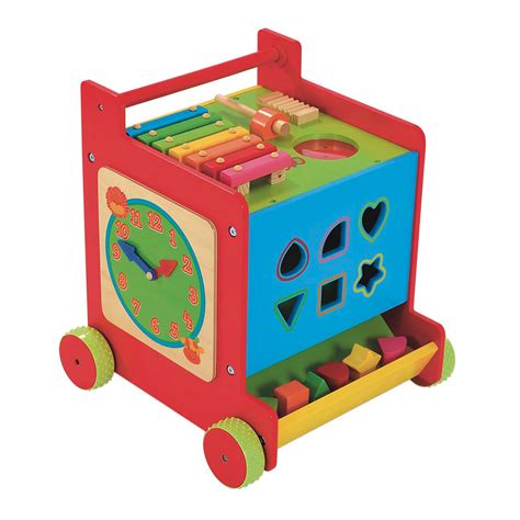 Elc Push And Go Car Original baby nursery mothercare safari wooden push along activity