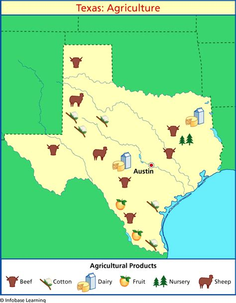 texas resource map texas agriculture map
