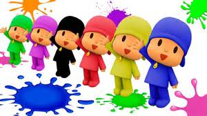 learn colors talking pocoyo cars painting learning colours amp songs kids children babies