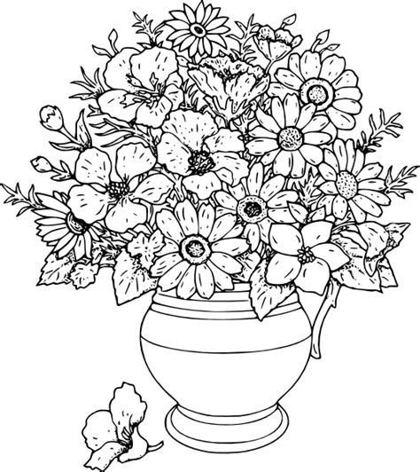 Clipart Vase Of Flowers by Vase Of Flowers Clip Free Vector In Open Office