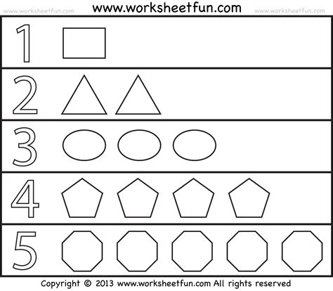 printable number shapes shapes and numbers 1 worksheet free printable