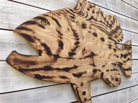 Wooden Fish Wall Decor by Large Outdoor Wall Fish Wall Decor Coastal Wood By