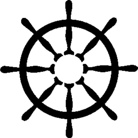 paper boat clipart black and white vector vintage ship wheel emblem with ribbon stock clip