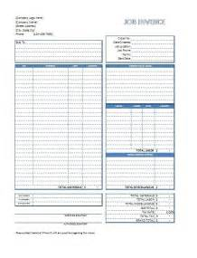 work invoice template free excel invoice template free