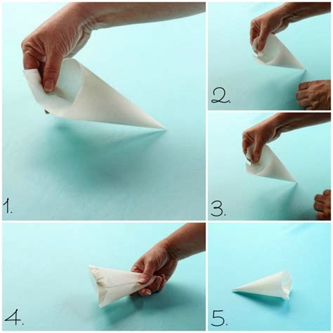 How To Fold Paper Into A Cone - parchment paper cones with a how to the bearfoot baker