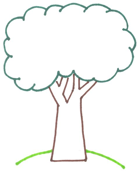 Clip Tree Outline by Fall Tree Outline Clipart Best