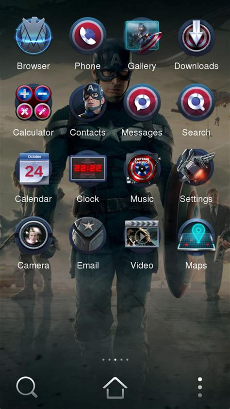 download themes to my phone captain america 2 theme free android theme download