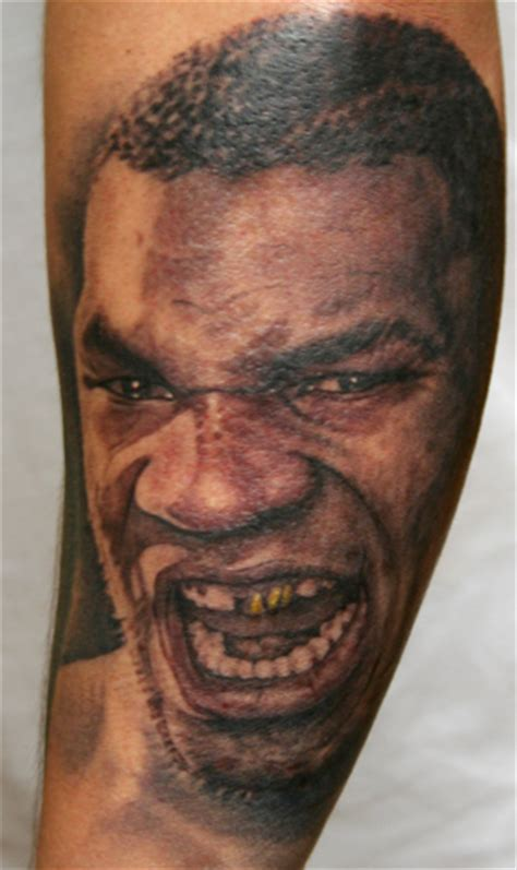 mike tyson tattoo mike tyson portrait by phil tattoonow