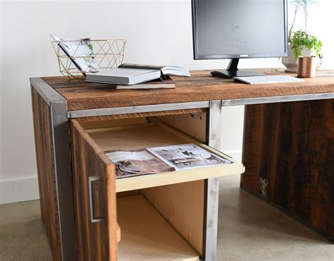 industrial desk with drawers industrial modern 3 desk the awesomer