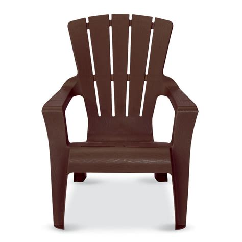 leisure lawn adirondack chairs shop us leisure cappuccino resin stackable adirondack