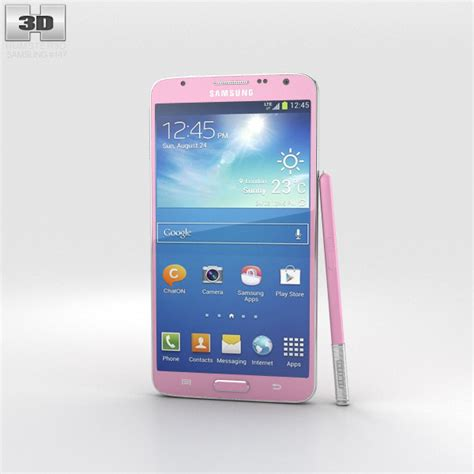 format video galaxy note 3 samsung galaxy note 3 neo pink 3d model hum3d