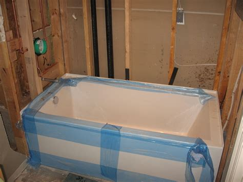 roughing in a bathtub acrylic bathtub recomendation terry love plumbing