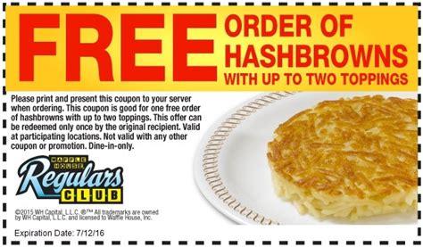 waffle house coupons printable waffle house coupons 2018 free item printablecouponcode