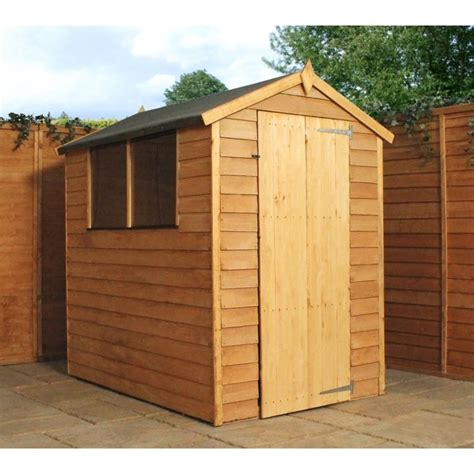 Shed Express by 6 X 4 Overlap Wooden Garden Shed Free Express Uk