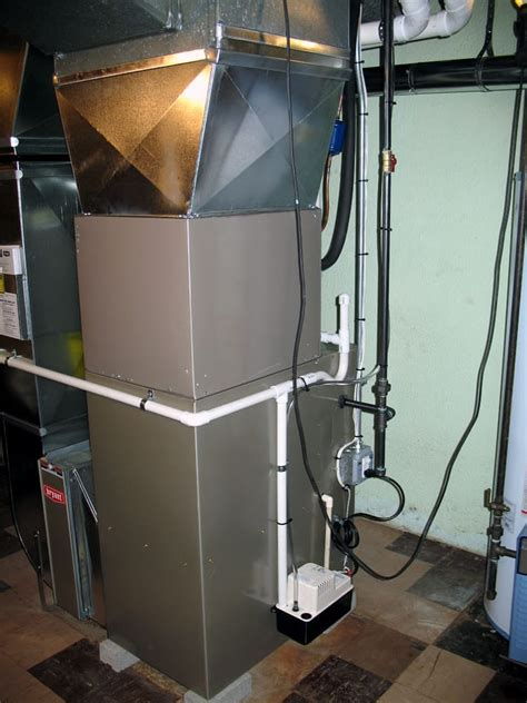 Heating Cooling Plumbing by Furnace Ac Condensate And Humidifier Drain Plumb Into