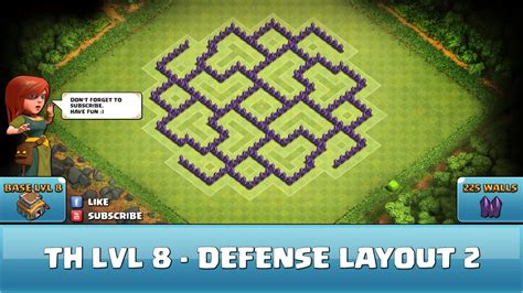 video wall layout clash of clans fun wall art th8 defense layout 2 youtube
