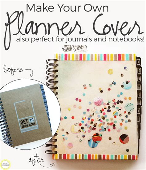 make your own notebook cover or planner cover planners