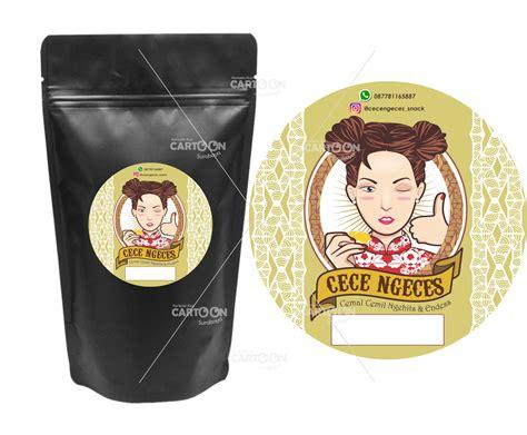 contoh hasil desain logolabel produk snack cece ngeces