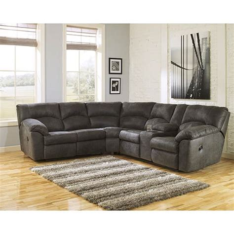 rent couch rent to own ashley tambo pewter 2 piece sectional