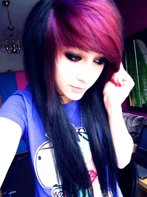 step by step emo haircut best 20 dyed bangs ideas on pinterest red purple hair