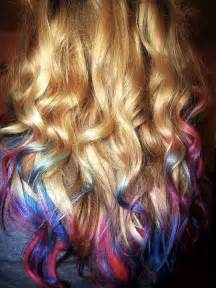 colored tips 25 ombre hair color ideas right now styles weekly