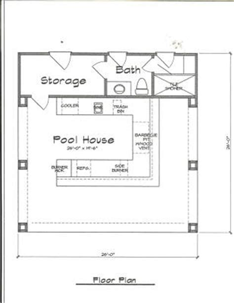 Pool House Plans Free This Will Look Great Right My Home One Day