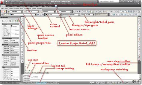 autocad 2007 mengenal autocad mengenal element lembar kerja autocad tutorial autocad x