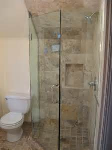 glass frameless neo angle shower doors in portland or