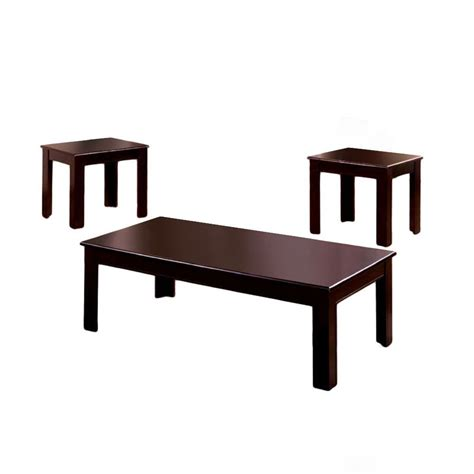 Espresso Finish Coffee Table Venetian Worldwide Town Square I 3pc Table Set Espresso Finish Home Furniture Living