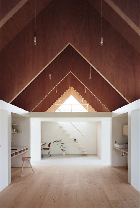 design milk architecture two story triangular addition for relaxation quiet