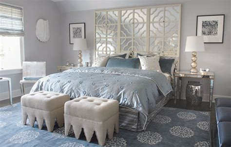 Light Gray Bedroom Walls Mirror Headboard Contemporary Bedroom Mabley Handler