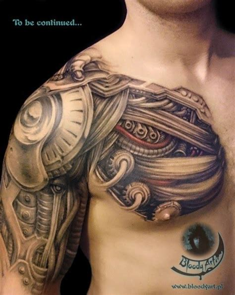 biomechanical tattoo specialists uk biomechanical tattoo over shoulder google search