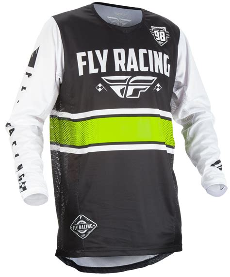 youth motocross racing fly racing youth 2018 kinetic era motocross jersey black