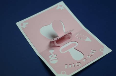 pop up card baby template baby shower pop up card pacifier creative pop up cards