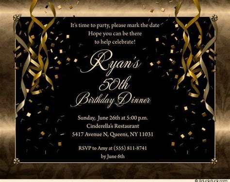 50th birthday invitations ideas free printable 50th birthday invitations for