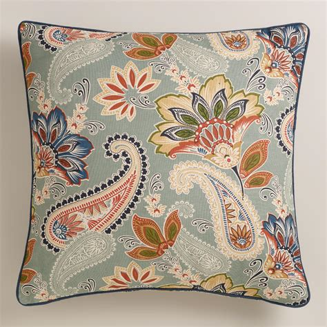 paisley throw pillows for couch paisley lakeside throw pillow world market