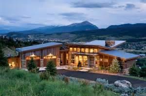 mountain home exteriors contemporary exterior other