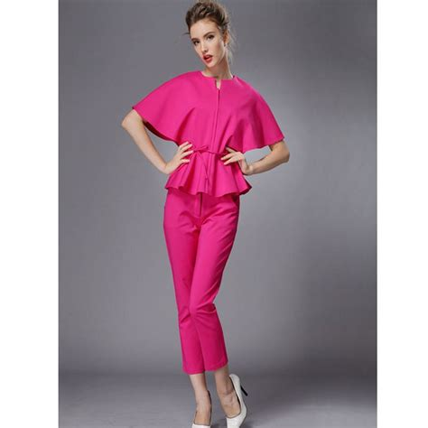 luxury red pants suits  women playzoacom