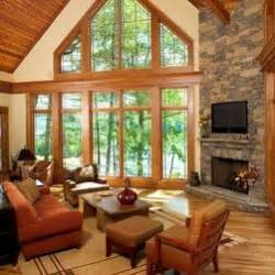 Rustic Living Room Window Rustic Cathedral Ceiling Living Room Design Ideas