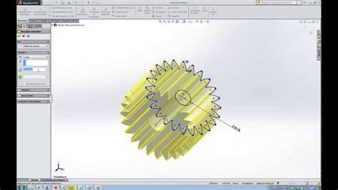 Tutorial Solidwork 2014 | how to make a pinion or gear in solidwork 2014 youtube