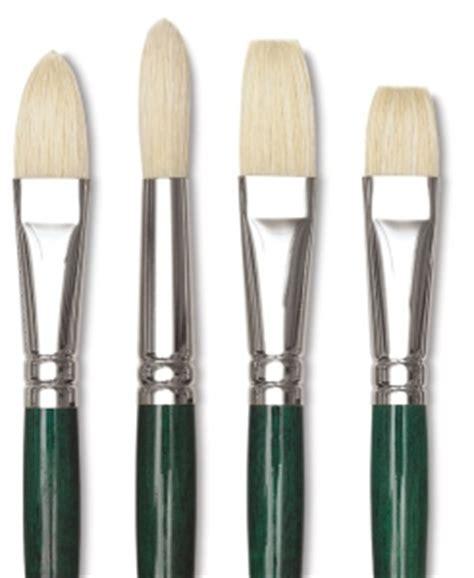 Winton Hog Brush No 12 Filbert Winsor Newton winsor newton winton hog bristle brushes blick materials