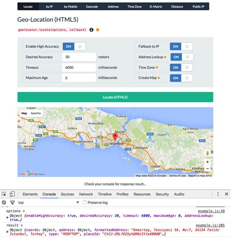 Ip Lookup Geolocation Getting Users Geolocation Via Html5 And Javascript Stack Overflow