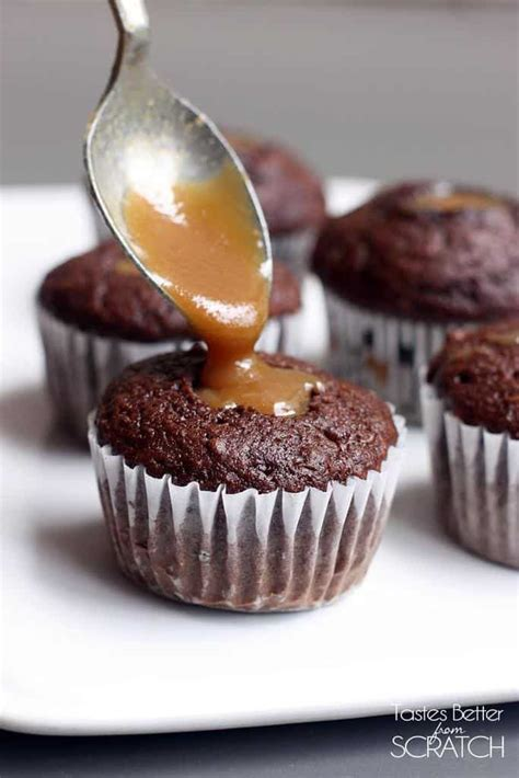 Handmade Chocolate Fillings Recipes - caramel filled chocolate cupcakes tastes better from scratch