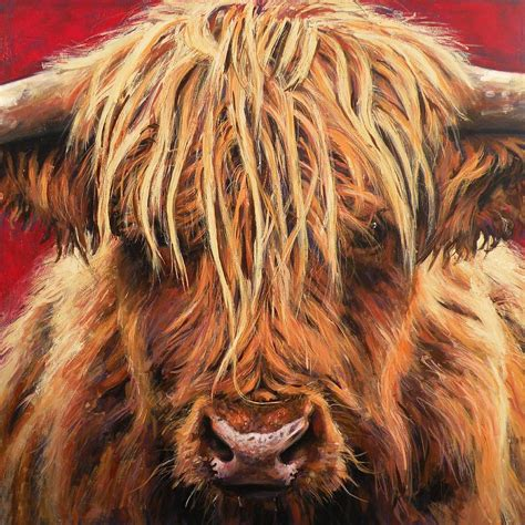 scow paintings highland cow paintings for sale paintings pinterest