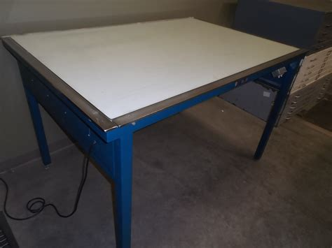 Used Light Table Box Hopper S Drafting Furniture Drafting Table Used